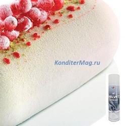 Шоколадный велюр Food colours белый 250 мл. 1