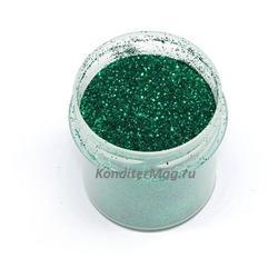 Блестки декоративные Темно-зеленые 10 г. 1