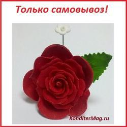 Украшение сахарное Роза красная 1