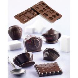 Форма для конфет Изи-шок Чаепитие Silikomart 1