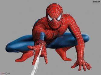 Вафельная картинка Человек паук и паутина 1