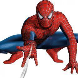 Вафельная картинка Человек паук белый фон 1