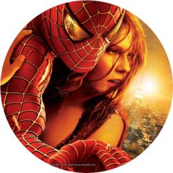 Вафельная картинка Человек паук спасает 1