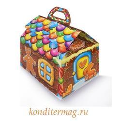 Подарочная упаковка Пряничный домик11х8х6 см. объем 250 г. 1