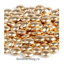 Сферы золотые шоколадные 1,5 см. 100 г. Tortora 1