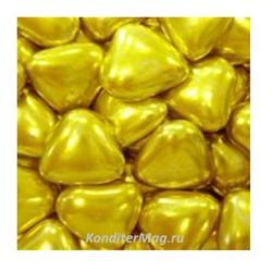 Сердечки шоколадные 2,5 см. золото 100 г. Tortora 1