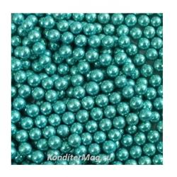 Шарики сахарные металлик 4 мм. Голубые 50 г. CLEMCO 1