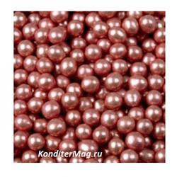 Шарики сахарные металлик 5 мм. красные 50 г. Tortora 1