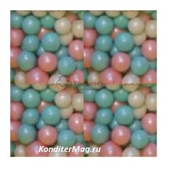 Жемчуг сахарный Нежность перламутр 5 мм. 100 г. 1