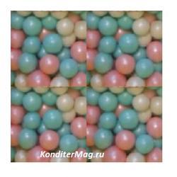 Жемчуг сахарный Нежность перламутр 5 мм. 100 г. 2