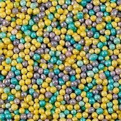 Посыпка сахарная Шарики гол/лилов/желт. перламутр 100 г. баночка 1