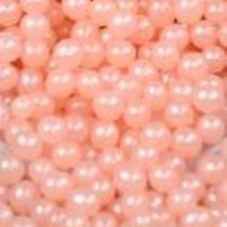 Шарики сахарнык перламутровые розовые 4 мм. 100 г. 1