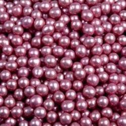 Шарики сахарные металлик 5 мм. Розовые 50 г. Tortora 1