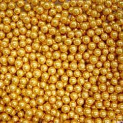 Шарики сахарные золото 4 мм. 50 г. Ambrosio 1