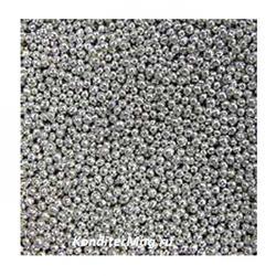 Шарики сахарные Серебро 2 мм. 50 г. Ambrosio 1