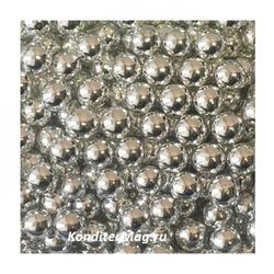 Шарики сахарные серебро 8 мм. 50 г. 1
