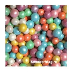 Жемчуг сахарный Цветной перламутр 5 мм. 100 г. 2