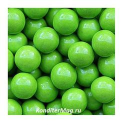 Декор Шарики Зеленый глянец 12 мм. Жемчуг 90 г. 1
