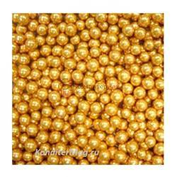 Шарики золото 6 мм. 100 г. Ambrosio 1