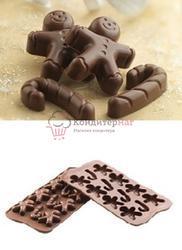 Форма для конфет Изи-шок Джинджер Silikomart 1