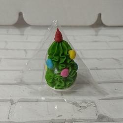 Фигурка сахарная Елка с игрушками 4,5 см. 1 шт. 1