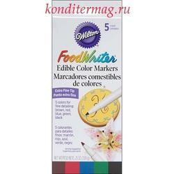Фломастеры пищевые для рисования Вилтон 5 цветов 3