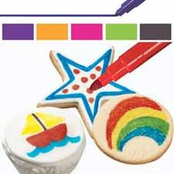 Фломастеры пищевые для рисования Вилтон 5 цветов 2