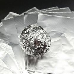 Фольга оберточная для конфет Серебряная 10х10 см. 100 шт. 1