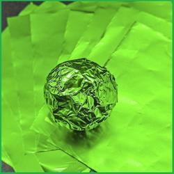 Фольга оберточная для конфет Зеленая 10х10 см. 100 шт. 1