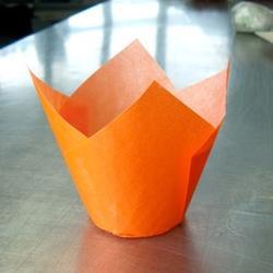 Форма бумажная для выпечки маффинов Тюльпан оранжевая, 10 шт., 1