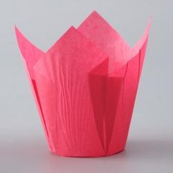Форма бумажная Тюльпан розовая 5х8,5 см. 10 шт. 1