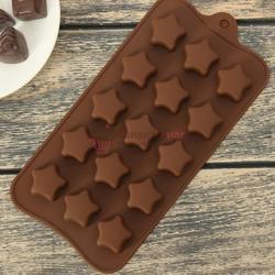 Форма для конфет Звездочки 21х10 см. силикон 1