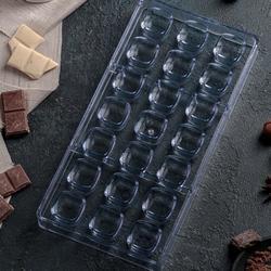 Форма для конфет Куб 33×16×3 см. пластик 1