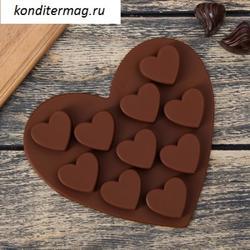 Форма для конфет Сердечки 15х15 см. 1