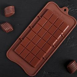 Форма для конфет Шоколадная Плитка 22х10 см. 1