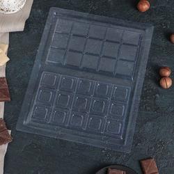 Форма для конфет Шоколадная Плитка 26х21 см. пластик 1