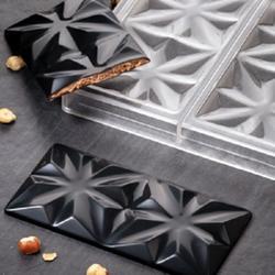 Форма для конфет Шоколадная плитка Эдельвейс 27,5х17,5 см. поликарбонат 1
