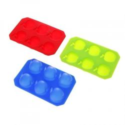 Форма для конфет Яблоко 14х9 см. 6 ячеек 1
