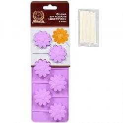 Форма для леденцов Цветочки и палочки Marmiton 1