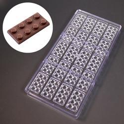 Форма для шоколада Лего 20 ячеек поликарбонат 1