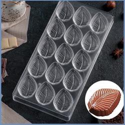 Форма для шоколада Листочек 15 ячеек поликарбонат 1