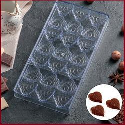 Форма для шоколада Листопад 21 ячейка поликарбонат 1