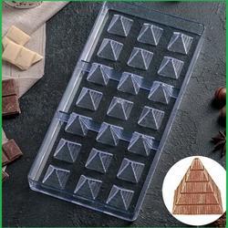 Форма для шоколада Пирамидки 21 ячейка поликарбонат 1