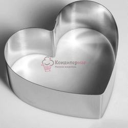 Форма для выпечки и выкладки Сердце 10х11х4,5 см. 1