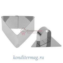 Форма Треугольник с прессом 8х8х4 см. металл 1