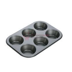 Форма для выпечки 6 ячеек металл Tescoma 1