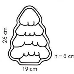 Форма для выпечки Елка 26 см. Tescoma Delicia, 2
