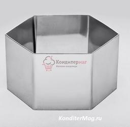 Форма для выпечки и выкладки Шестигранник 10х5 см. 1