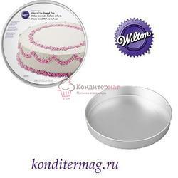 Форма для выпечки Круг Совершенство 40,5х5 см. алюминий Вилтон 1