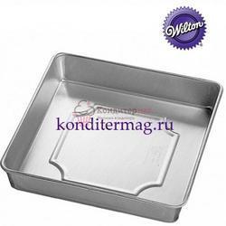 Форма для выпечки Квадрат Совершенство 25х25х5 см. алюминий Вилтон 1